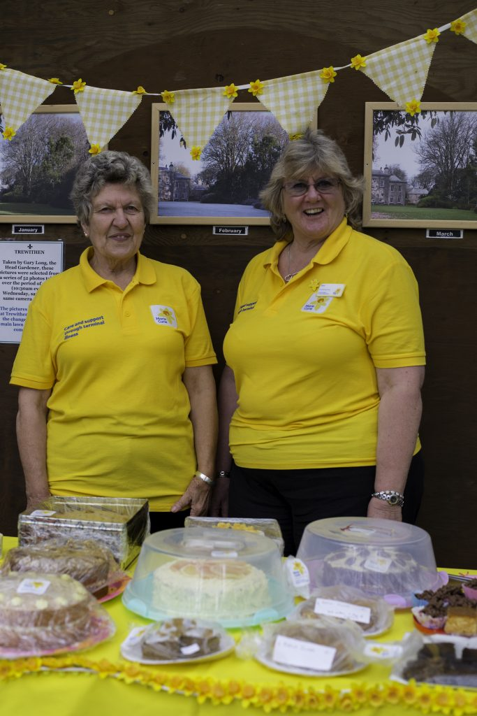 Truro Marie Curie volunteers Lynda Robbins and Moreen Williams at Trewithen. 11 September, 2016.