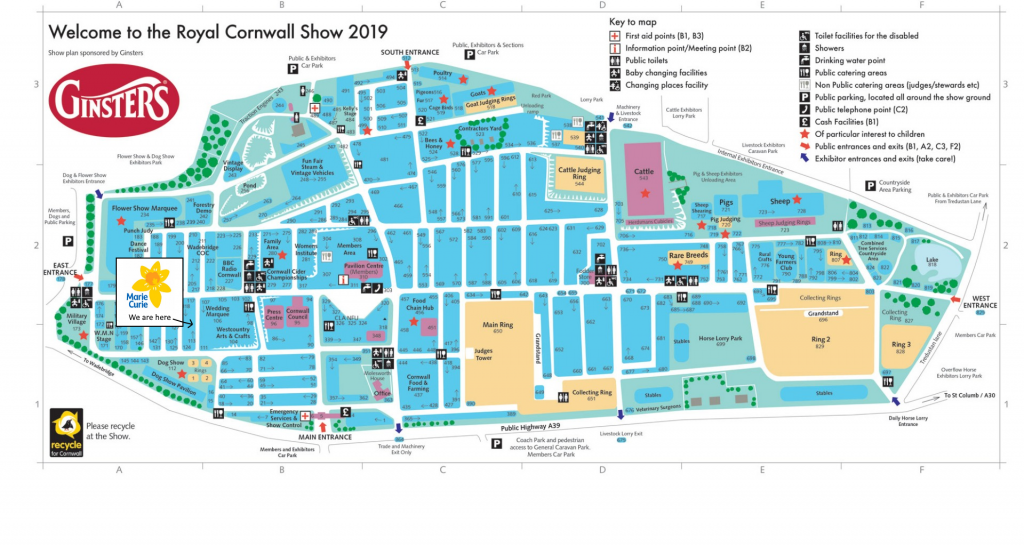 Royal Cornwall Show Map